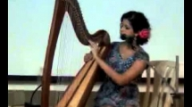 Nush Lewis - Harpist in the house